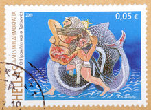 O grego carimba 2008-2009 Imagem de Stock Royalty Free