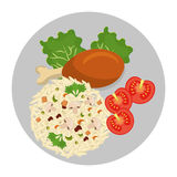 O gráfico delicioso do alimento e da gastronomia isolou o projeto liso Fotografia de Stock