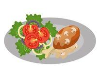 O gráfico delicioso do alimento e da gastronomia isolou o projeto liso Foto de Stock