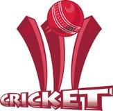 O grilo ostenta o wicket da esfera Foto de Stock Royalty Free