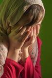 O grito da moça - retrato Imagem de Stock Royalty Free