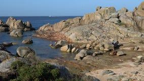 O Grove, Galicia, Spain. Beautiful landscape of Galicia, coastline close to O Grove, Spain, Europe stock video footage