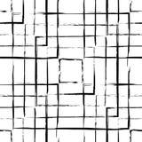 O grunge abstrato esquadra o teste padrão sem emenda Imagem de Stock
