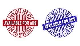 O Grunge DISPONÍVEL PARA o ADS riscou selos redondos do selo ilustração do vetor