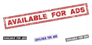 O Grunge DISPONÍVEL PARA o ADS Textured selos do retângulo ilustração do vetor