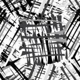 O Grunge listrou o teste padrão sem emenda em cores pretas, brancas, cinzentas ilustração do vetor