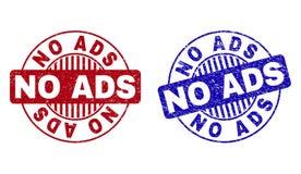 O Grunge NENHUM ADS Textured selos redondos do selo ilustração do vetor