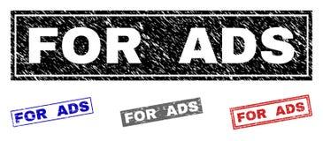O Grunge PARA o ADS Textured selos do retângulo ilustração do vetor