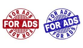 O Grunge PARA o ADS Textured selos redondos do selo ilustração stock
