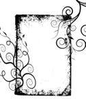 O grunge preto roda frame Fotos de Stock Royalty Free
