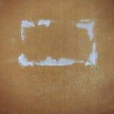 O grunge quadrado perfurou a textura do cartão e o quadro do papel Fotografia de Stock