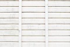O Grunge que descasca o carvalho pintado branco embarca o fundo Imagem de Stock