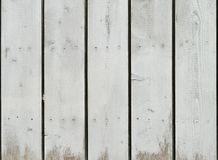 O Grunge que descasca o carvalho pintado branco embarca o fundo Foto de Stock