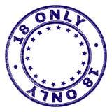 O Grunge Textured o ÚNICO selo redondo do selo 18 ilustração royalty free