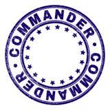 O Grunge Textured o COMANDANTE Round Stamp Seal ilustração do vetor