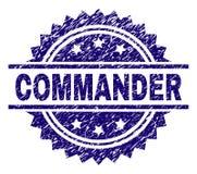 O Grunge Textured o COMANDANTE Stamp Seal ilustração do vetor