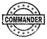O Grunge Textured o COMANDANTE Stamp Seal ilustração stock