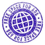 O Grunge Textured o ESPAÇO LIVRE PARA o selo do selo do ADS ilustração do vetor