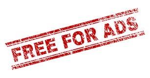O Grunge Textured LIVRE PARA o selo do selo do ADS ilustração royalty free