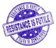 O Grunge Textured a RESISTÊNCIA É selo INÚTIL do selo ilustração royalty free