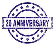 O Grunge Textured o selo do selo de 20 ANIVERSÁRIOS Imagem de Stock