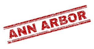O Grunge Textured o selo do selo de ANN ARBOR ilustração stock