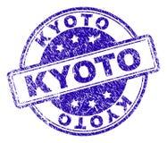 O Grunge Textured o selo do selo de KYOTO ilustração stock