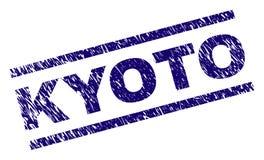O Grunge Textured o selo do selo de KYOTO ilustração do vetor