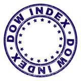 O Grunge Textured o selo redondo do selo do ÍNDICE do DOW ilustração do vetor
