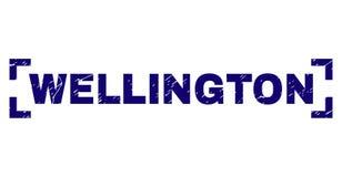 O Grunge Textured WELLINGTON Stamp Seal Inside Corners ilustração royalty free