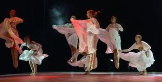 O grupo aberto da dança do ` s das crianças da dança Festival-2016 executa eslavo Fotografia de Stock Royalty Free
