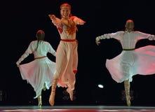 O grupo aberto da dança do ` s das crianças da dança Festival-2016 executa eslavo Foto de Stock Royalty Free