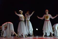 O grupo aberto da dança do ` s das crianças da dança Festival-2016 executa eslavo Imagens de Stock Royalty Free