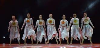 O grupo aberto da dança do ` s das crianças da dança Festival-2016 executa eslavo Imagens de Stock
