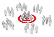 O grupo-alvo Imagem de Stock