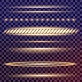 O grupo criativo do vetor do conceito de estrelas do efeito da luz do fulgor estoura com os sparkles isolados Foto de Stock Royalty Free