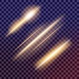 O grupo criativo do vetor do conceito de estrelas do efeito da luz do fulgor estoura com sparkles Fotos de Stock Royalty Free