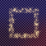 O grupo criativo do vetor do conceito de estrelas do efeito da luz do fulgor estoura com sparkles Imagem de Stock