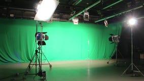 O grupo da iluminação do filme video estoque