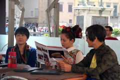 O grupo da realidade de Florença de China era é nós que vamos, paizinho Foto de Stock