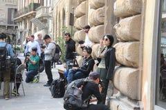 O grupo da realidade de Florença de China era é nós que vamos, paizinho Foto de Stock Royalty Free