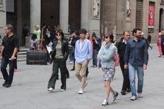 O grupo da realidade de Florença de China era é nós que vamos, paizinho Fotografia de Stock