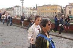 O grupo da realidade de Florença de China era é nós que vamos, paizinho Fotos de Stock