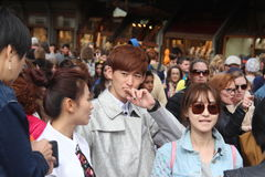 O grupo da realidade de Florença de China era é nós que vamos, paizinho Imagens de Stock Royalty Free