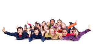 O grupo das crianças fotografia de stock royalty free