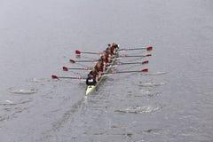 O grupo das mulheres de USC ganhou a raça na cabeça do Eights mestre de Charles Regatta Women Imagem de Stock