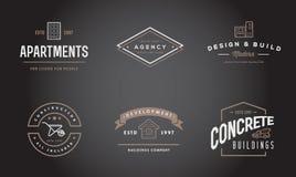 O grupo de ícones da construção da construção do vetor dirige e o reparo pode ser usado como o logotipo Imagem de Stock