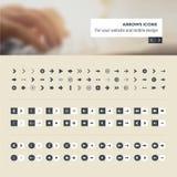 O grupo de ícones das setas para o Web site e o app móvel projetam o desenvolvimento Fotografia de Stock Royalty Free