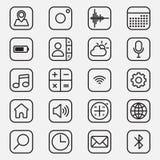 O grupo de aplicações móveis esboça a ilustração do ícone do estilo Fotos de Stock