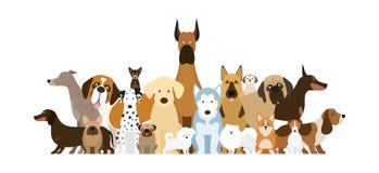 O grupo de cão produz a ilustração ilustração royalty free